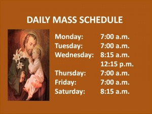 DAILYMASS SCHEDULESb