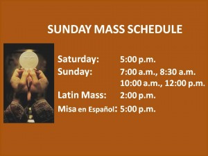 stjoseph SUNDAY MASS SCHEDULES